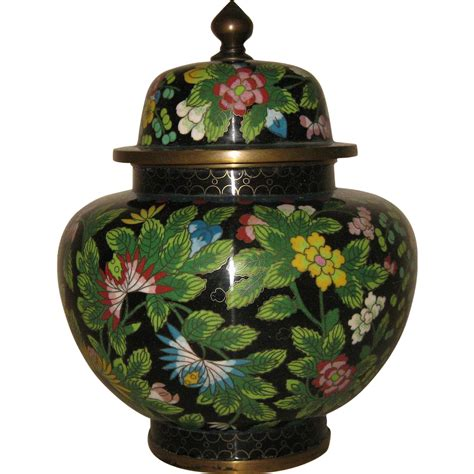 antique cloisonn 233 covered vase sold on ruby