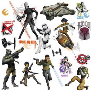 star wars rebels glow the dark wall stickers for