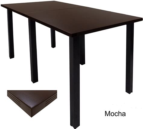 Standing Height Conference Table Standing Height Conference Tables W Square Black Legs 5 Color Choices 8 Length See Other Sizes