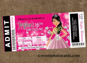 invitations for sweet 16