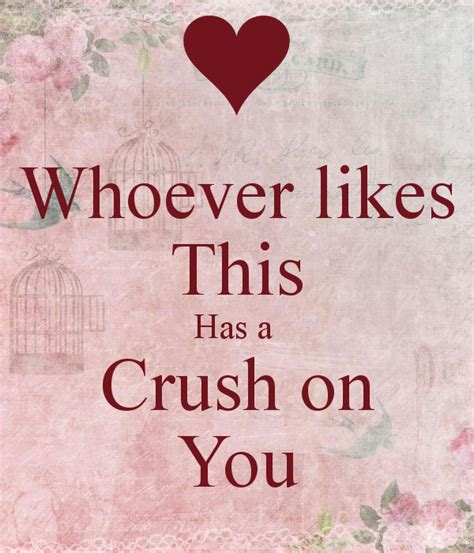 On You whoever likes this has a crush on you poster emily keep calm o matic
