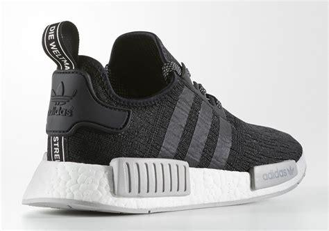 Sepatu Sneakers Adidas Nmd Black Grey adidas nmd r1 black grey release date sneaker bar detroit