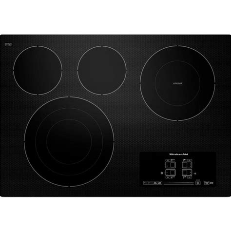 top electric cooktops kitchenaid 30 inch smoothtop electric cooktop black rc