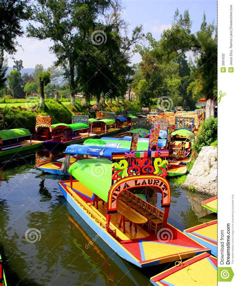 xochimilco stock photography image