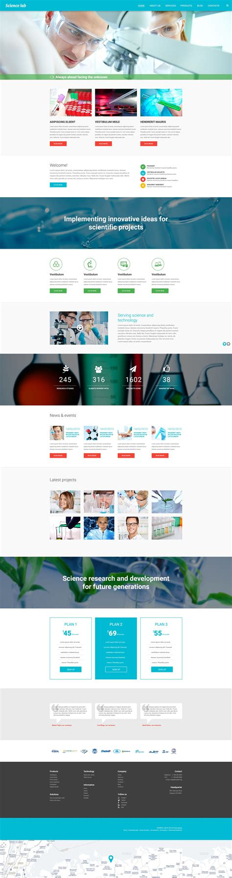 drupal themes live demo science lab drupal theme