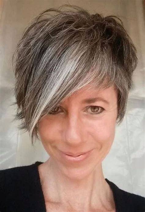 short salt and pepper hair 25 best ideas about short gray hair on pinterest grey