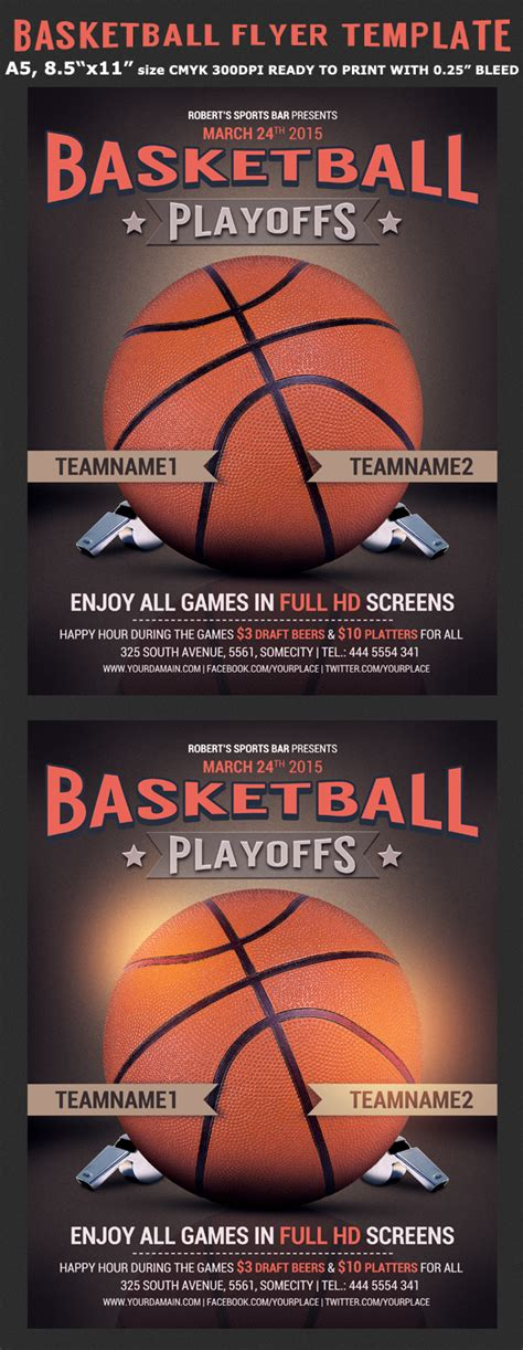 free templates for basketball flyers basketball flyer template flyerstemplates