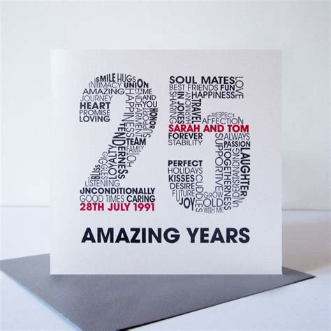Wedding Anniversary Silver by Personalised Silver Wedding Anniversary Card By Mrs L