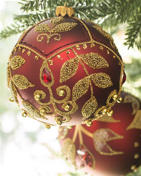 christmas burgundy gold and pearls burgundy and gold ornaments my