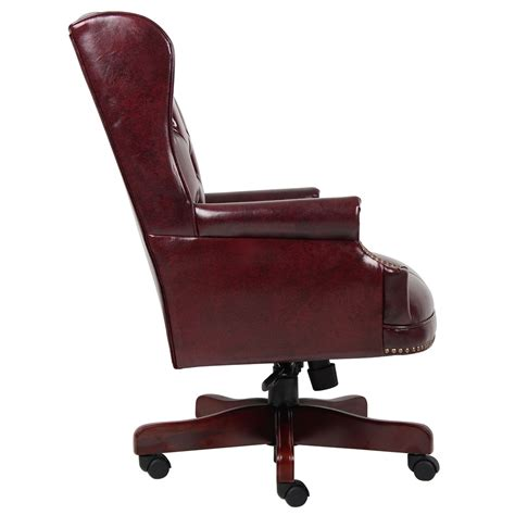 wingback traditional chair burgundy wingback traditional chair in burgundy
