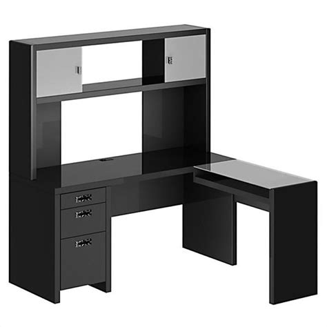 Office Desk With Hutch L Shaped by Kathy Ireland Office By Bush New York Skyline L Shape Desk With Hutch Nys001mm