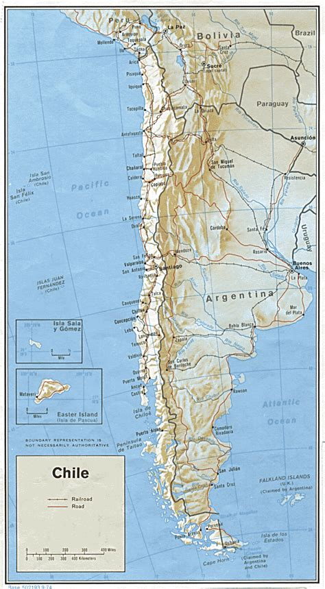 map of chile 1974