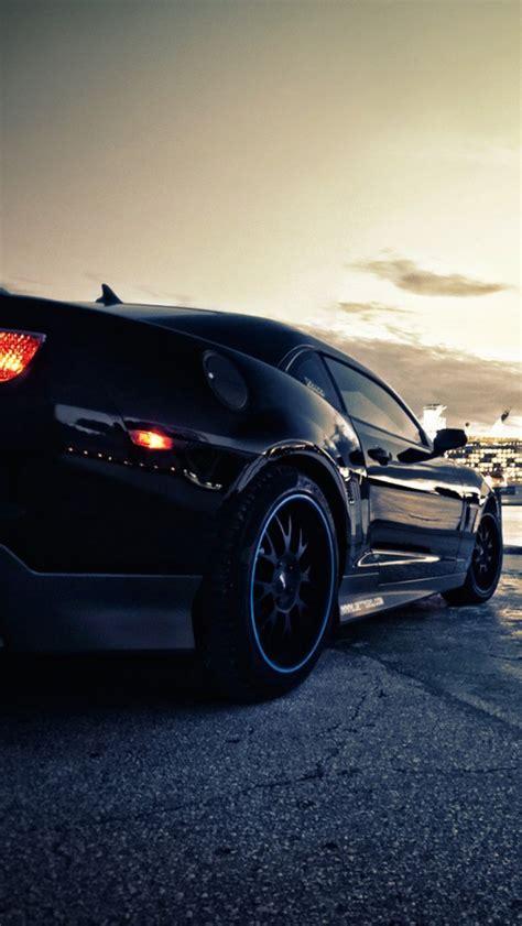black camaro muscle car iphone  wallpaper hd