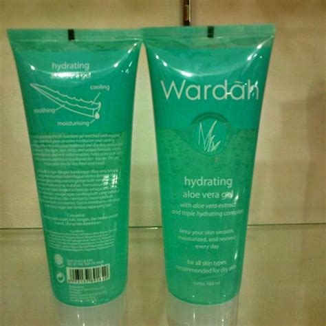 Wardah Hydrating Gel jual wardah hydrating aloe vera gel 100 ml cosme store