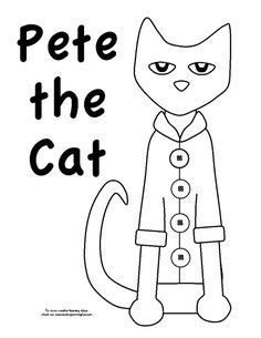 coloring page of pete the cat pete the cat on pinterest pete the cats color by
