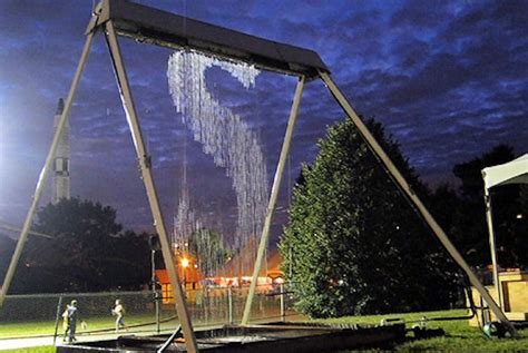 waterfall swing set waterfall swing makes designs but keeps users dry video