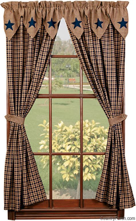 country star curtains vintage star navy lined tieback curtain panels