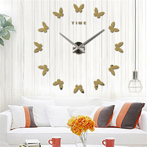 diy 3d home design large diy 3d design decoration modern wall clock art home