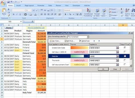 format conditional formatting excel 2007 conditional formatting in excel 2007 techblissonline com