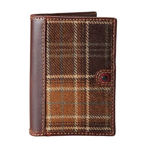 Fossil Plaid Passport Wallet New With Tag lyst fossil gifts alpine plaid passport sleeve in brown for