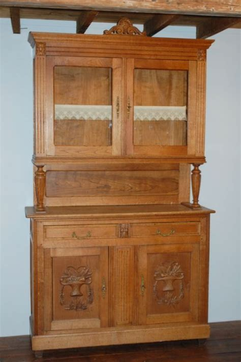 Oak Kitchen Dressers by Antique Oak Kitchen Dresser Buffet 1890 351095
