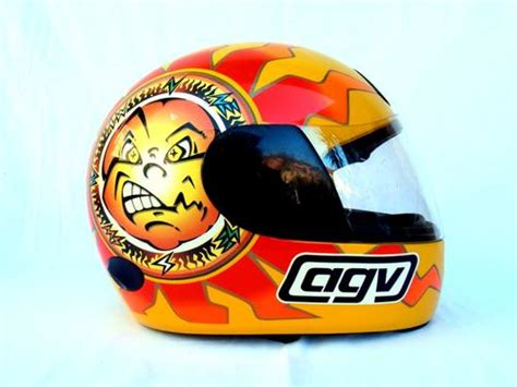 Helm Agv Sun Moon other motorsport vintage agv valentino sun moon helmet from 1999 free shipping was