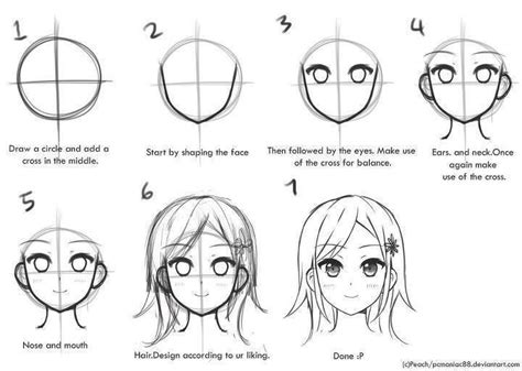 Step By Step Draw An Anime Character Illustration