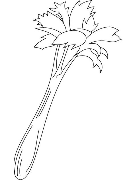 color page celery coloring pages and print celery coloring
