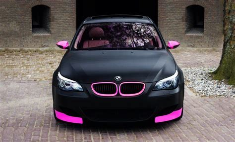 matte black and pink bmw one for the a tasty matte black and pink bmw e60