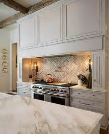 Kitchen Brick Backsplash Traditional White Kitchen With Brick Backsplash Home Bunch Interior Design Ideas