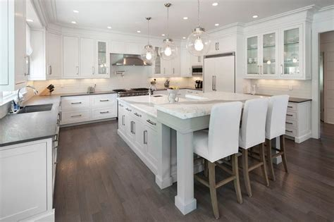 white kitchen island breakfast bar