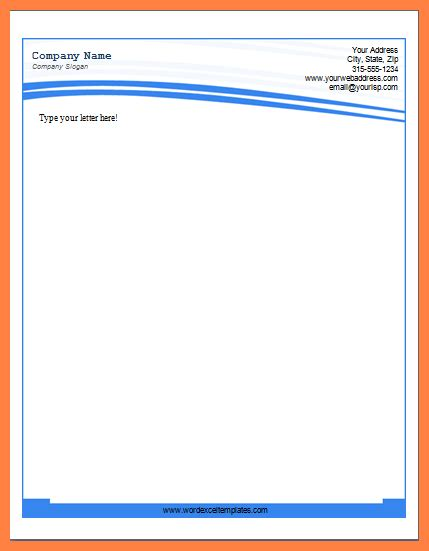 10 Ms Word Letterhead Template Company Letterhead Microsoft Word Stationery Templates