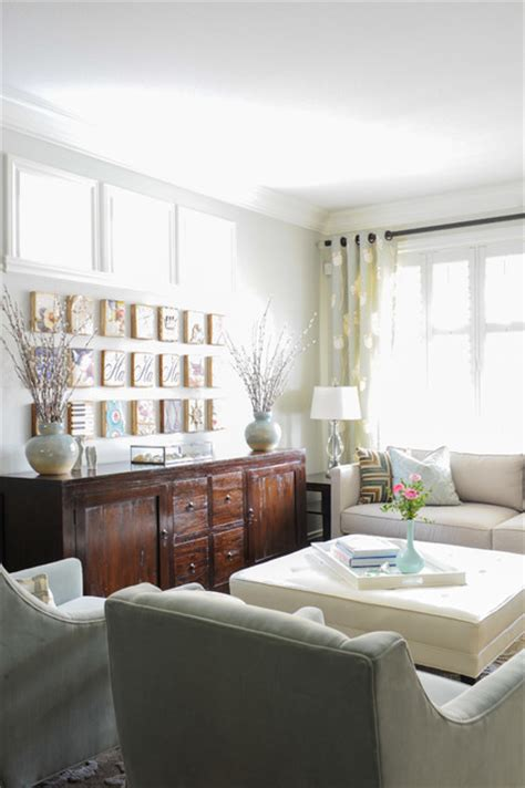 Simply Home Decorating by Serene Family Home Transitional Living Room