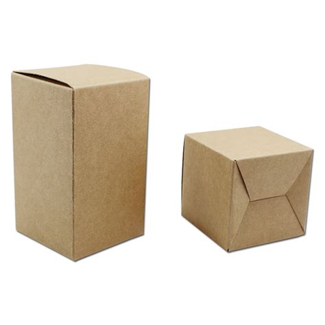 Folded Ribbon Box Size 17 X 17 X 17 Cm 2 Pcs size 6 6 12cm brown kraft cardboard folding paper package box for bakery business card