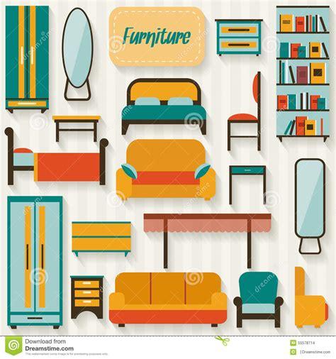 muebles la casa muebles fijados para los cuartos de la casa ilustraci 243 n