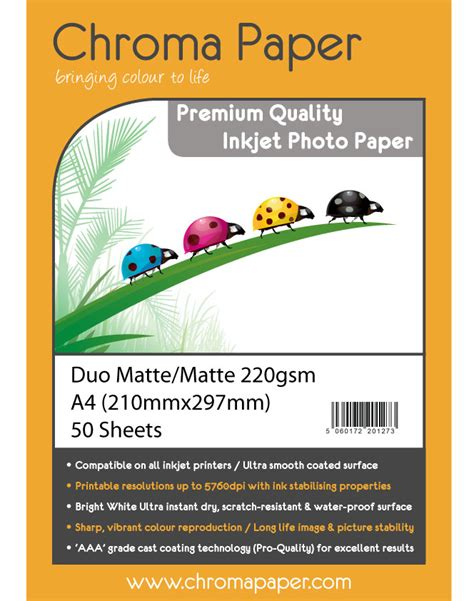 staples a4 photo quality matt inkjet photo paper 100gsm chroma a4 220g double sided matte matte inkjet photo paper
