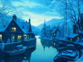 sweden winter landscape wallpaper