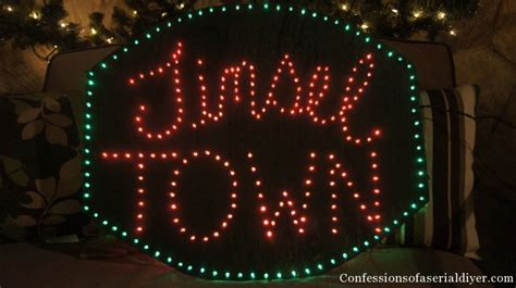 how to make an illuminated holiday sign confessions of a