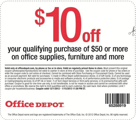 office depot coupons puerto rico office depot 10 off printable coupon expires january