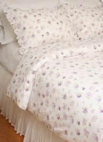Ruffled Duvet Cover Queen Duvet Comforter Cover Set Elizabeth Lavender Purple