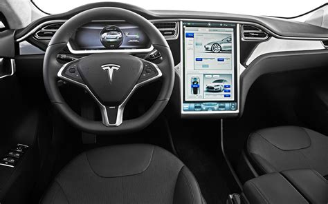 Tesla S Interior Images Driving Goes Innovative Tesla Model S Southern Eye