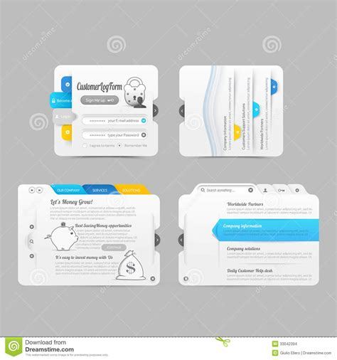 business website template design menu navigation elements