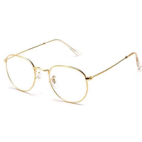 aliexpress buy fashion gold metal frame eyeglasses