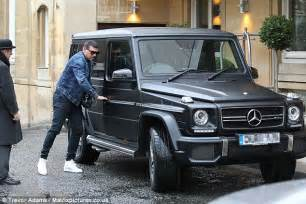 mercedes jeep 2013 black tamer hassan climbs into his 163 160k mercedes jeep ahead of