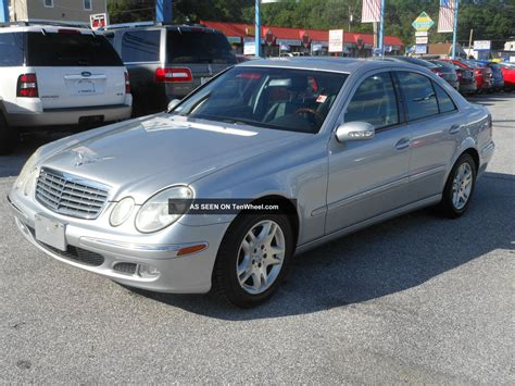 Mercedes 2004 E320 by 2004 Mercedes E320 Base Sedan 4 Door 3 2l