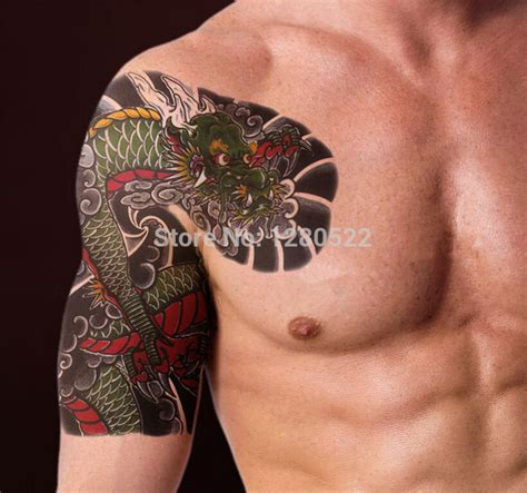 tattoo shoulder price wholesale 100pcstemporary shoulder tattoo sticker cool big