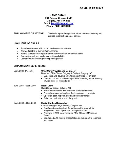 sle resumes for b pharmacy students sle resume for part time 100 images college student