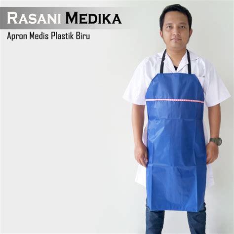 Jas Dokter Lengan Pendek Ukuran S Seragam Dokter apron medis biru rasani medika