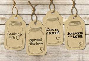 Jar Tags Template by Instant Jar Label Tags Printable Sheet