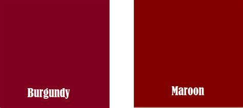 the color maroon difference between maroon and burgundy definition